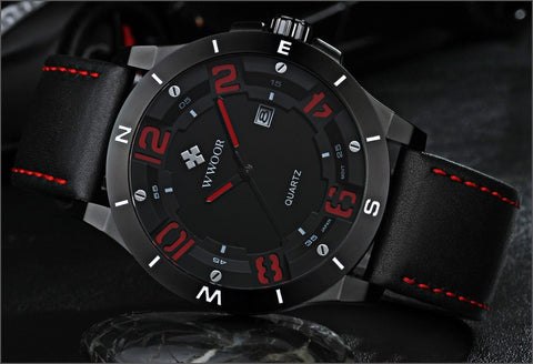 Image of Top Brand Luxury Waterproof Military Watches Male Date Relogio Masculino Leather Strap Casual Quartz Watch Men Sport Wrist Watch