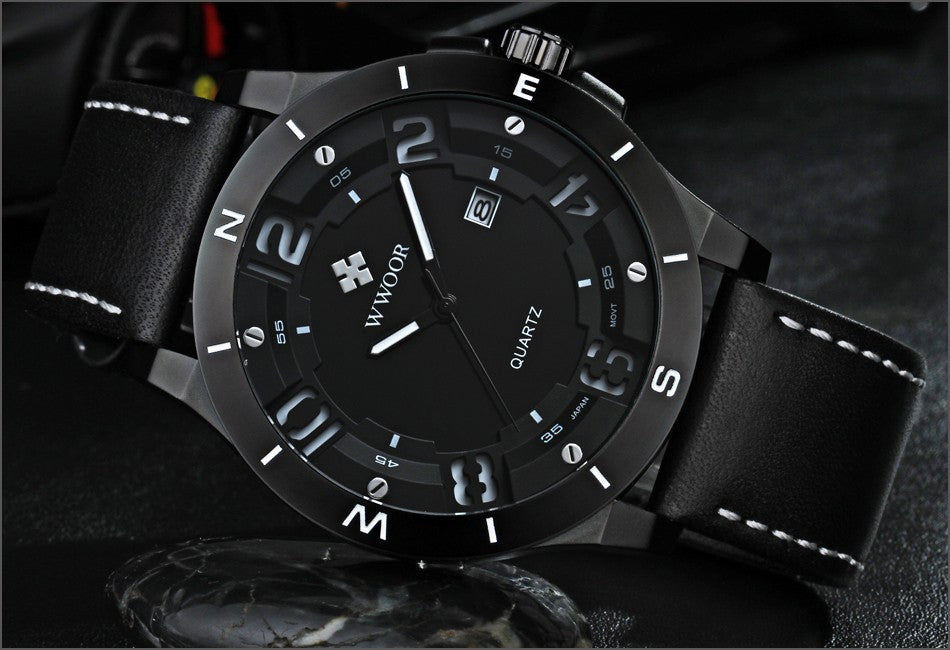 Top Brand Luxury Waterproof Military Watches Male Date Relogio Masculino Leather Strap Casual Quartz Watch Men Sport Wrist Watch