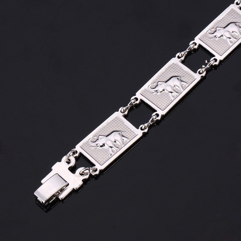 Elephant Pattern Gold/Silver Color Unisex Fashion Jewelry 19 cm Link Chain Trendy Animal Chain & Link Bracelets H483