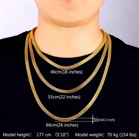Image of Gold Color Mesh Necklace Set Stainless Steel  Wholesale Trendy Necklace/Bracelet Party Men Jewelry Set S502