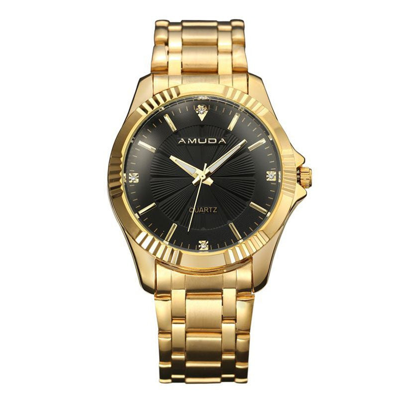 Men Clock Fashion Business Watch Luxury Brand Full Stainless Steel Quartz-Watch Man Wrist Watch Wholesale Gold Watch Men