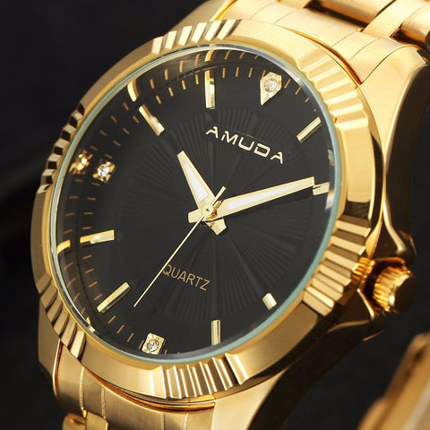 Amuda Gold Stainless Steel Watch