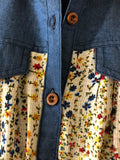 Small Floral Pattern with Denim