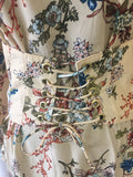 Floral with Corset Belt