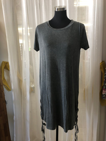 Mineral Wash Tie Dress