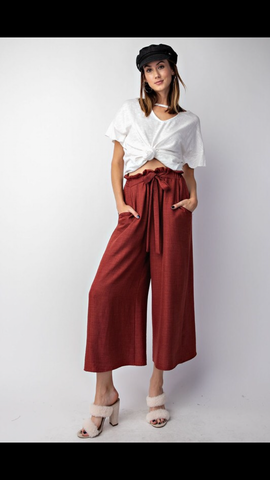 Red Bean Linen Pants