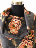 Cowl Neck Floral Poncho