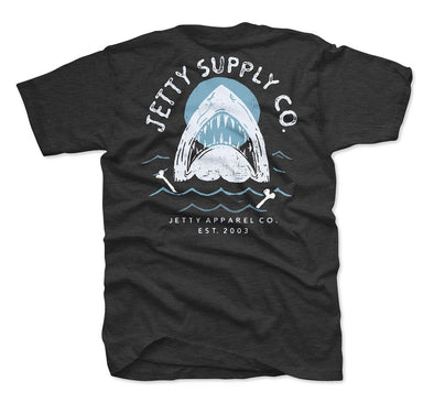 Jetty Breach Tee Charcoal Heather - Mens T Shirt