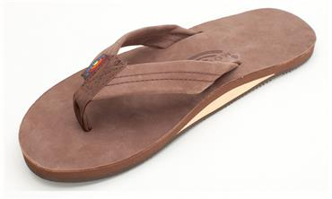 Rainbow Leather Sandals - Expresso