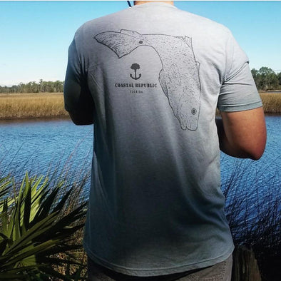 Coastal Republic Soft Tee Shirt - Redfish tee
