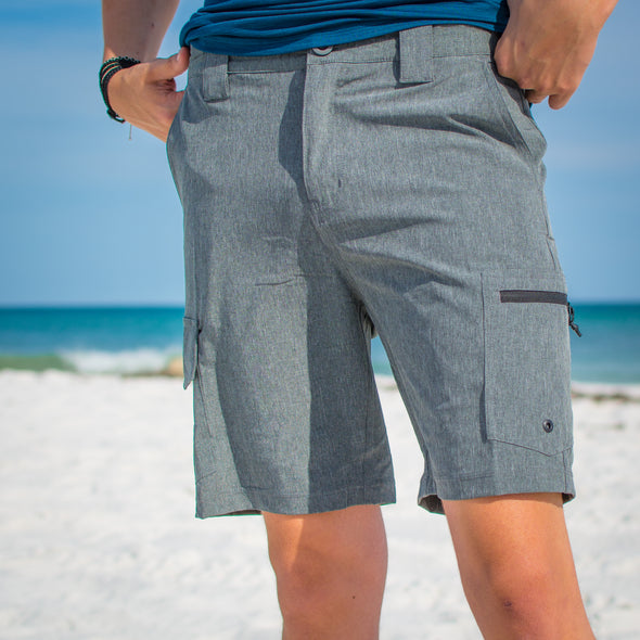 Innerlight Hybrid shorts Charcoal Heather - Mens walkshorts - Drifit walkshorts