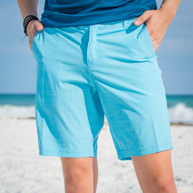 Innerlight Hybrid shorts Light blue - Mens walkshorts - Dri fit walkshorts