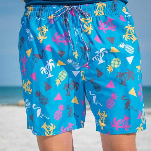 Innerlight Cruisers Shorts - Retro Print - Mens Shorts