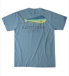 Salty Crew Angry Bull T shirt - Men's salty crew shirt - Blue