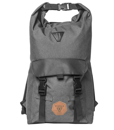 Vissla Surfer Elite II Wet Dry Bag - Backpack - Carry On - Travel Bag - Grey