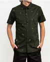RVCA SCATTERED PRINTED BUTTON-UP SHIRT