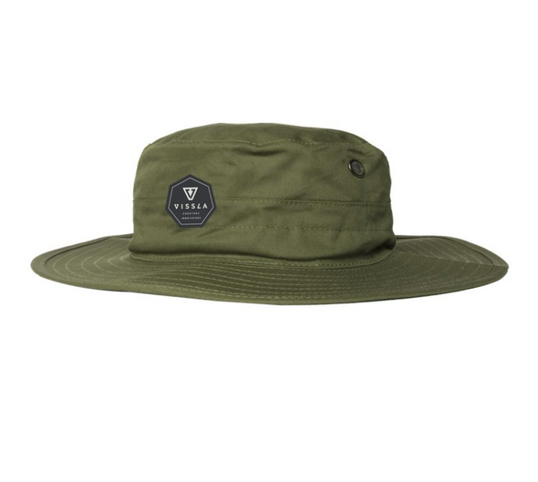 Vissla Boonie Hat - Sun Protection Hat - Surf Hat - Safari Hat - Green