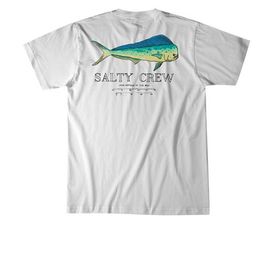 Salty Crew Angry Bull T shirt - Men's salty crew shirt - White
