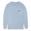 Vissla Alba LS Pocket Tee - Mens garment dyed tee shirt - Blue