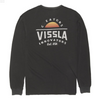 Vissla Alba LS Pocket Tee - Mens garment dyed tee shirt - Black