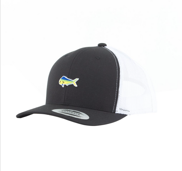 Salty Crew Happy Fish Retro Trucker - Black