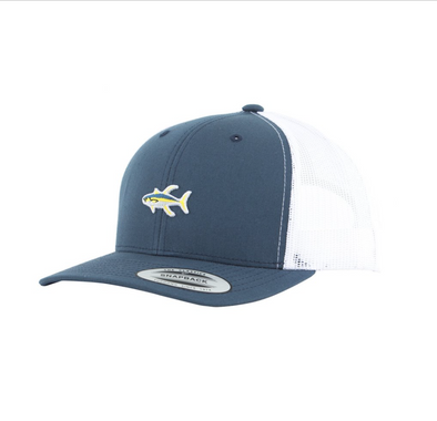 Salty Crew Happy Fish Retro Trucker - Blue