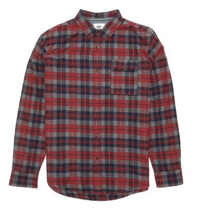 Vissla Central Coast Flannel - RED
