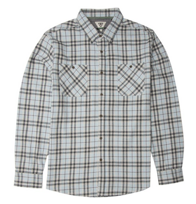 Vissla Cliffside Flannel - Ice Blue