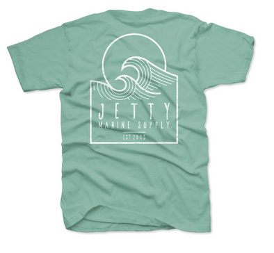 Jetty Sunswell tee - Mint - Mens T Shirt