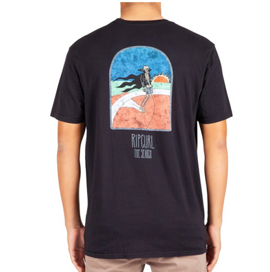 Rip Curl Dead Sled Heritage T Shirt - Mens T Shirt