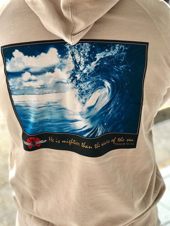 "Innerlight ""He is mightier than the waves of the sea"" Pullover Hoodie"