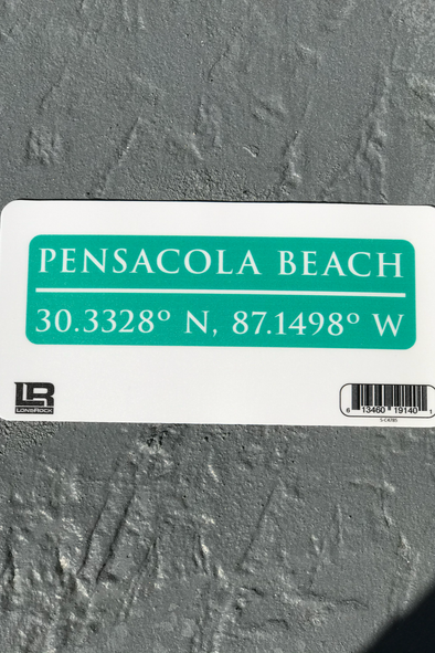 Innerlight Sticker - Pensacola Beach Coordinates