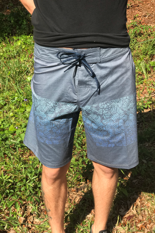 Innerlight - Floral Stripe Boardshorts - Mens Surf Shorts