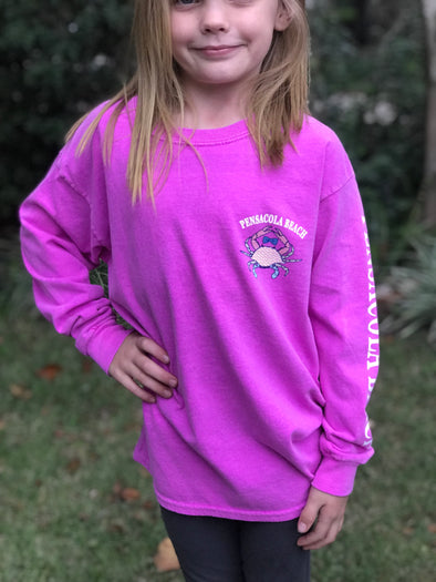Girls Crab Longsleeve Tee