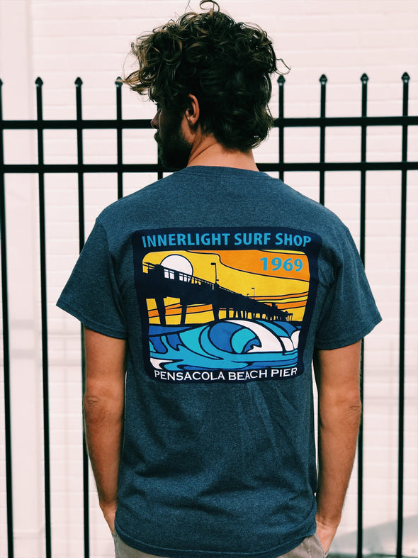 Pensacola Beach Pier short sleeve
