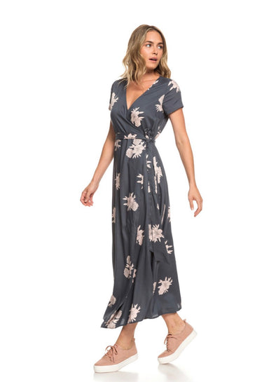 Roxy District Day Short Sleeve Maxi Dress
