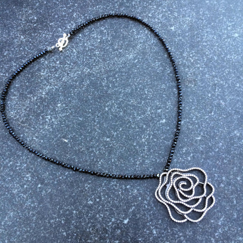 A Rose is a Rose is a Rose necklace