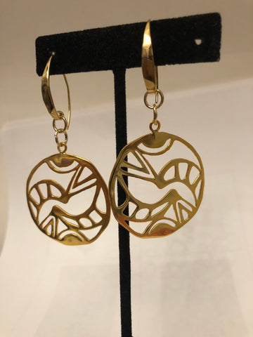 Balance Harmony Unity Gold Hoop Earrings