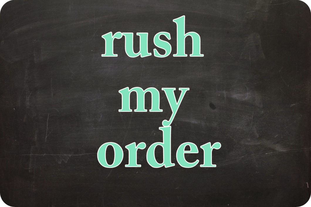 Rush my Order Processes in 1-3 days after April 24 Handmade in WI Custom Personalized Wedding RingBearer Need by date in note beprettybebold