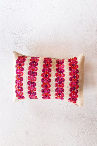 Chamula dot pillow  - blanco