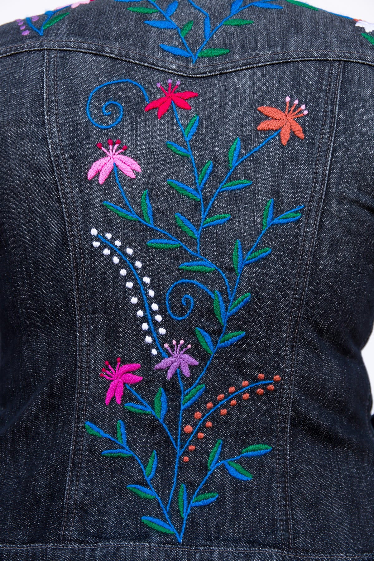 Zinacantán Noche Jean Jacket - Medium