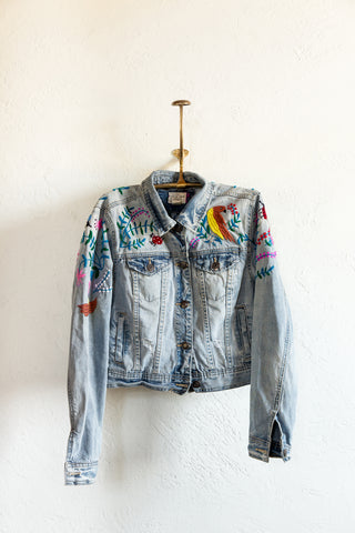 Zinacantán Libélula Jean Jacket - Medium