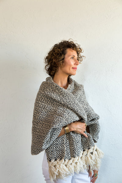 Rebozo diamante - brown