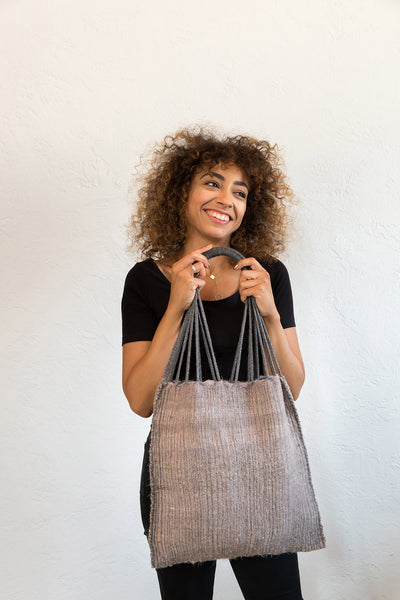 Wool Mercado Bag Ceniza