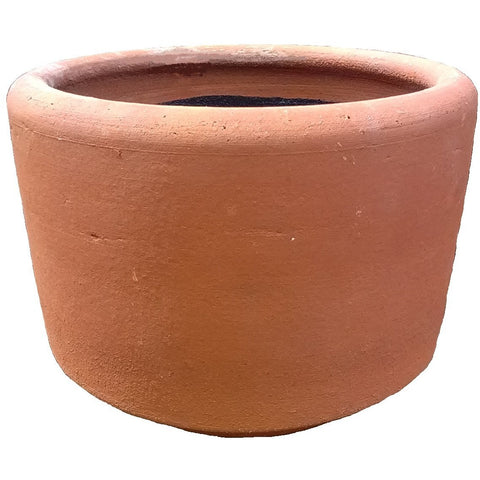 "Terra Cotta Planter, 10"" Short Cylinder"