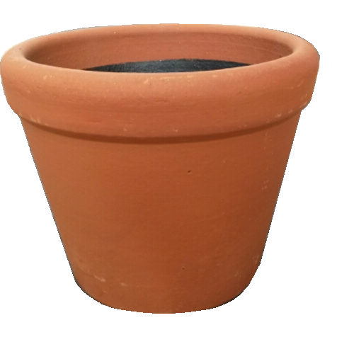 "Terra Cotta Planter, 10"" Tapered Pot"