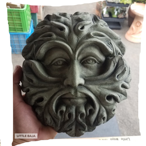 Wall Decoration | Acanthus Greenman Relief Replica, Concrete