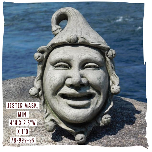 Wall Decoration | Jester Mask, Mini, Concrete