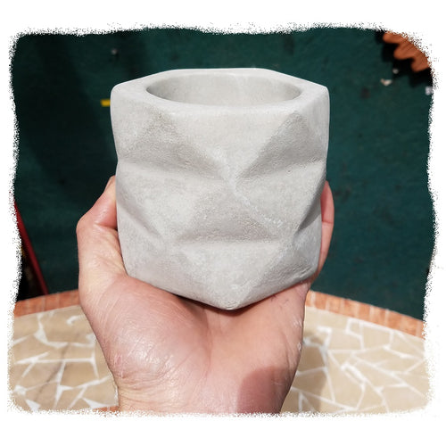 Planter, Mini Concrete Pot (New)