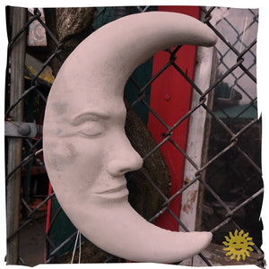 Wall Decoration | Moon, Concrete 11""